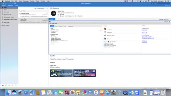 FileFinder Executive Search Software now integrates with native Outlook on Apple Macs