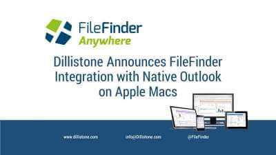 FileFinder now supports integration with the native Apple Mac version of Microsoft's Outlook email app