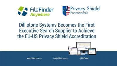 Dillistone Systems holds the US EU privacy shield