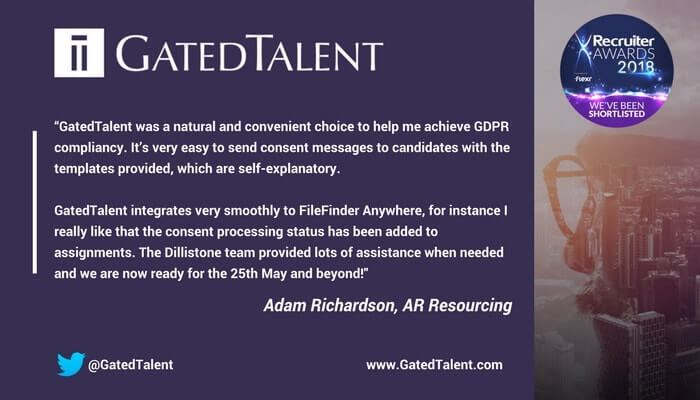 AR Resourcing legitimised its data in no time with GatedTalent!