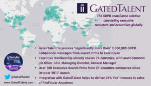 GatedTalent Attracts Senior Executive Talent from 75 Countries in First 6 Months